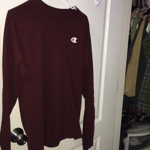 Very Cute, Comfortable Maroon Champion Long Sleeve